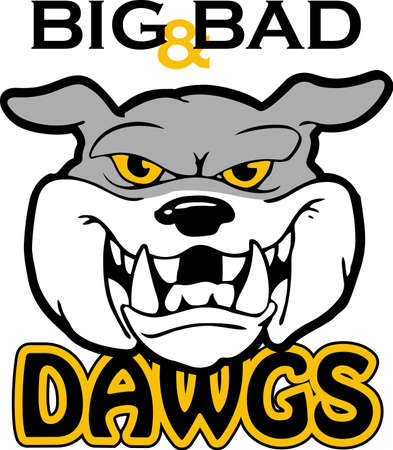 pooch: Show your team spirit with this Bulldog logo.  Everyone will love it!