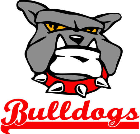 pooches: Show your team spirit with this bulldog logo.  Everyone will love it! Illustration