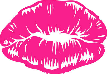 kissing lips: So many colors of lipstick, only two lips.  Its not easy being glamorous!  Everyone will love it! Illustration