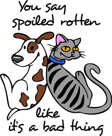 pooches: This cute cartoon is perfect for dog and cat friends.  Get these designs from Great Notions. Illustration