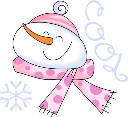 scarves: A figure of a person made out of packed snow, makes a snowman, pick those designs by Great Notions! Illustration