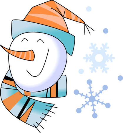 pick out: A figure of a person made out of packed snow, makes a snowman, pick those designs by Great Notions! Illustration
