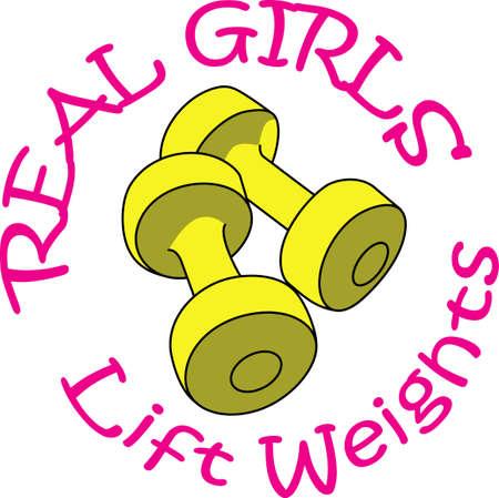 levantando pesas: El levantamiento de pesas es un gran ejercicio. Obtener estos dise�os para su instructor de grandes conceptos.