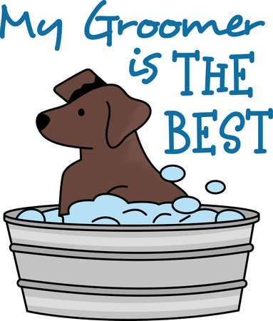to designate: Designate the towel used for the dog so they know here comes the bath.  A cute design from Great Notions.