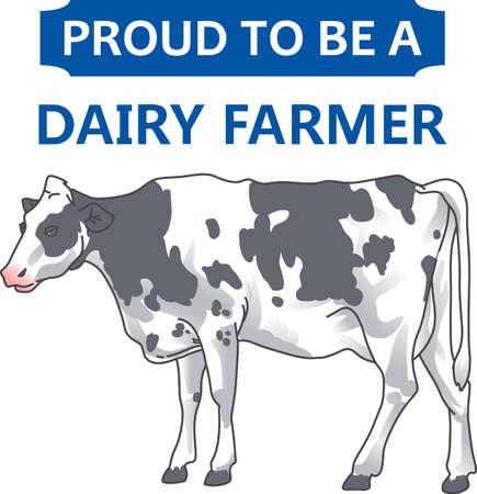 Un éleveur aimerait cette image d'une vache. Ajoutez cette conception à une chemise avec leur marque sur elle. Banque d'images - 45057893