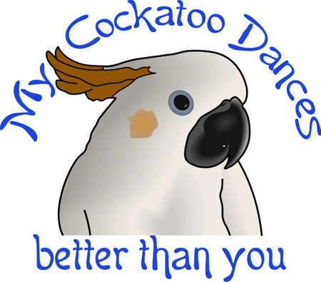 cockatoos: Your best friend that loves you no matter what is your parrot.  Get these designs from Great Notions.