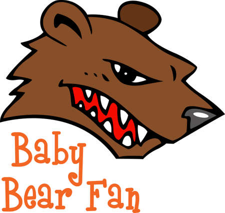 Show your team spirit with this Bear logo.  Everyone will love it!