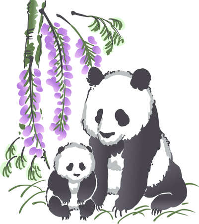 endangered: Sweet Panda Bears are so much fun to visit at the zoo.  Remember the event all year long with this design from Great Notions. Illustration