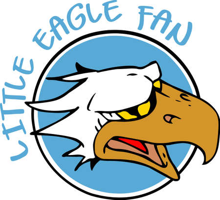 love is it: Show your team spirit with this Eagle logo.  Everyone will love it!