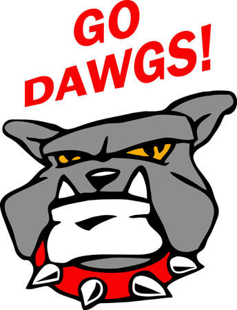 doggies: Show your team spirit with this bulldog logo.  Everyone will love it! Illustration