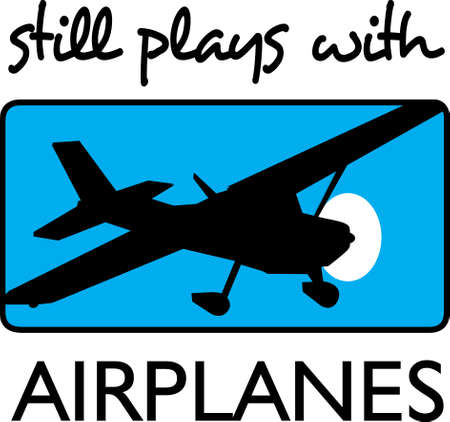 A pilot loves to fly their plane.  This is a beautiful design to take with them. Ilustrace
