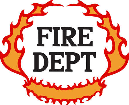 flame letters: Firefighters work hard everyday to risk their lives for others.  Show them how much you appreciate them with this design from Great Notions.
