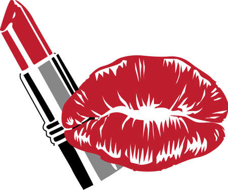 So many colors of lipstick, only two lips.  Its not easy being glamorous!  Everyone will love it! Ilustracja