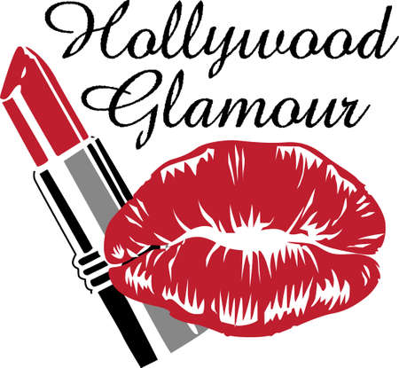 So many colors of lipstick, only two lips.  Its not easy being glamorous!  Everyone will love it! Vettoriali
