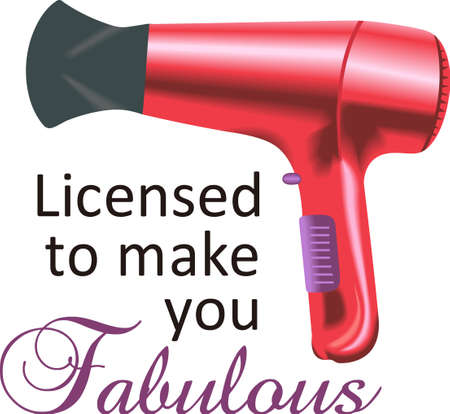 hairdryer: You entrust your hair to your stylist.  This design is perfect for thanking them! They will love it