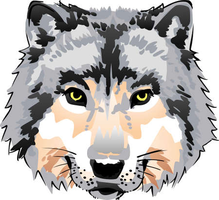 The strength of the wolf is the pack and the strength of the pack is the wolf. Illustration