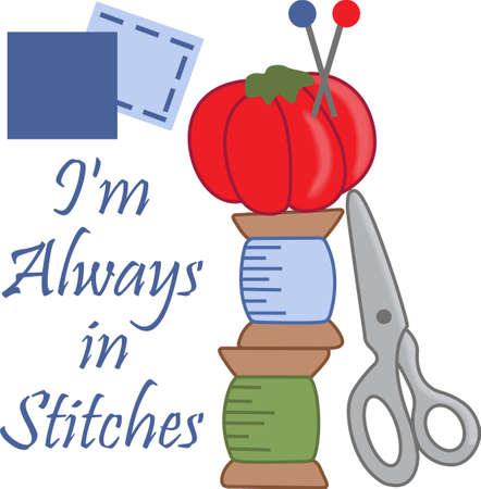 straight pin: The seamstress or quilter in your family spends lots of time sewing holes, buttons and making beautiful items.  This design is perfect for them! They will love it! Illustration