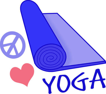 the yogi: Yoga is great exercise.  Get these designs for your trainer from Great Notions. Illustration