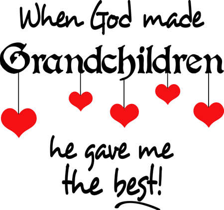 We may not be rich and famous, but our grandchildren are priceless.  Pick these designs from Great Notions. Illustration