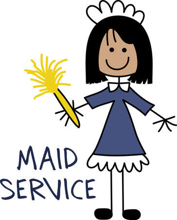 Its the perfect advertisement for your maid service business.  Get these designs from Great Notions.