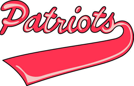 Show your team spirit with this Patriots logo.  Everyone will love it! Ilustração
