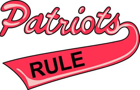 この愛国者ロゴとチームの精神を示します。 誰もがそれを愛する!