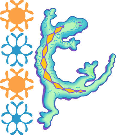 southwest: This beautiful gecko is perfect to add to your Southwest design.  Get these designs from Great Notions.