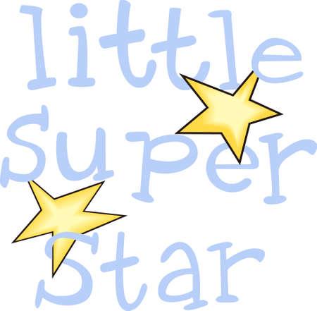 Geef deze superster om uw kind om hen te zien oplichten met vreugde toen ze deze keurige ontwerp te zien. Stock Illustratie