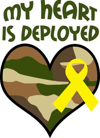Laat weten dat je trots zijn op je held zijn. Toon steun voor onze troepen met dit speciale ontwerp. Stockfoto - 45091187