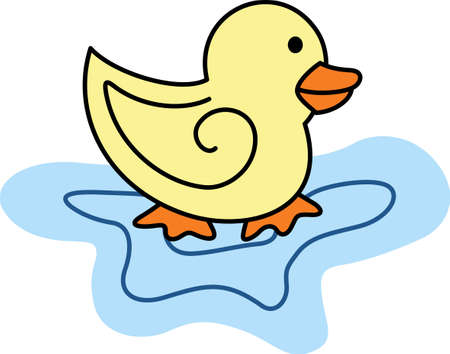 waterfowl: This adorable duck says quack, quack.  Send this happy duck to a child.  They will love it!