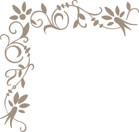 scroll border: This is a beautiful scroll border to add to your design.  Get these designs from Great Notions. Illustration