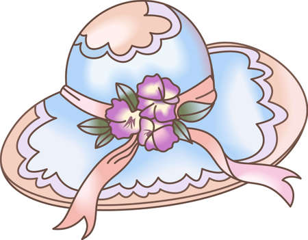 bonnet: This is a beautiful garden bonnet and sure to bring a smile to a gardener.  Get these designs for her from Great Notions. Illustration