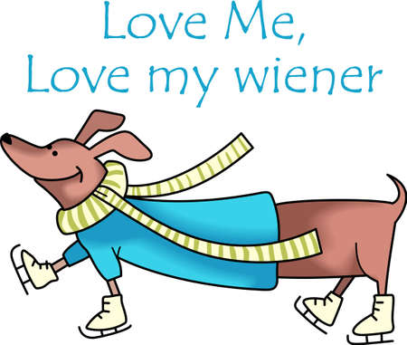 weiner: This cute dog is a perfect design for Christmas.