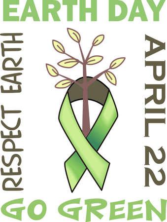 Muestre su amor a la madre tierra. Enviar esto alguien que usted sabe que necesitan recordar lo que pueden hacer para ayudar al medio ambiente. Se les va a encantar! Foto de archivo - 45093745