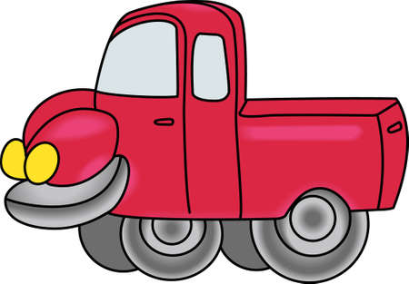 Kids love to play with trucks and digging in the dirt.  Designate their special clothing with this design so all their clothes dont end up soiled. Illusztráció