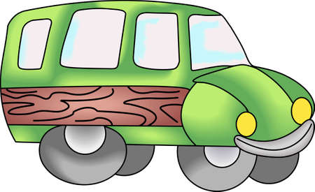 designate: Kids love to play with trucks and digging in the dirt.  Designate their special clothing with this design so all their clothes dont end up soiled. Illustration