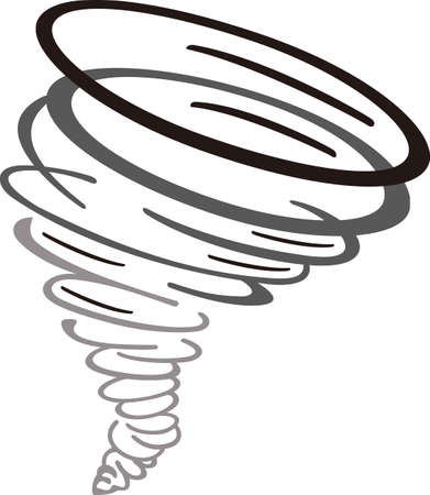 Show your team spirit with this tornado logo.  Everyone will love it!  イラスト・ベクター素材