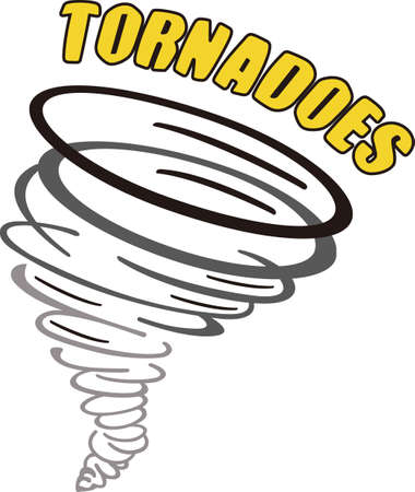 love is it: Show your team spirit with this tornado logo.  Everyone will love it! Illustration