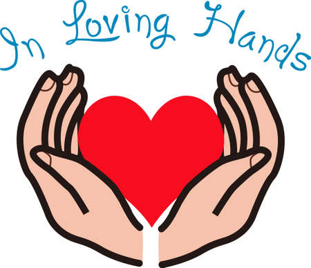 loving hands: It is good to know that your heart is in loving hands.  This is a beautiful image from Great Notions.