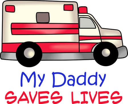 emt: You entrust your health to the EMS each day.  This design is perfect for thanking them! They will love it! Illustration