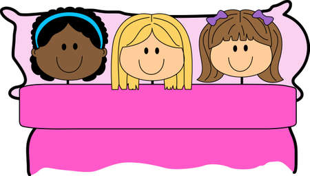 sleepover: Girls love to have a sleepover.  Use this design to give to their friends.