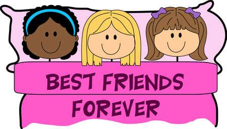 pijamada: Las niñas les encanta tener una fiesta de pijamas. Utilice este diseño para dar a sus amigos.