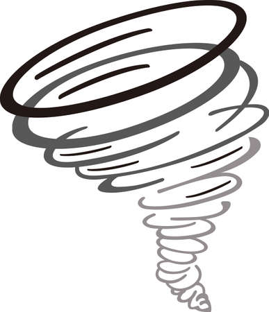 Show your team spirit with this tornado logo.  Everyone will love it! Vectores