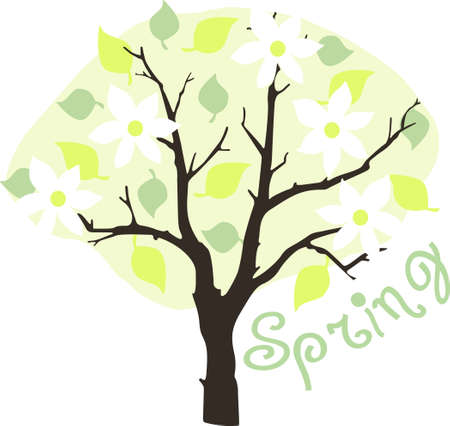 limb: This tree design is perfect for springtime.  Another cute image from Great Notions! Illustration