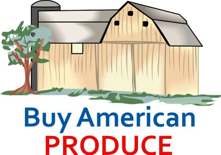 storing: Support American farmers and buy American products.   Illustration