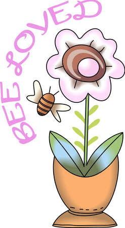 flowerpots: Be happy with the springtime with beautiful flowers and bees.  A beautiful design by Great Notions!