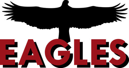 team spirit: Show your team spirit with this Eagles logo.  Everyone will love it! Illustration