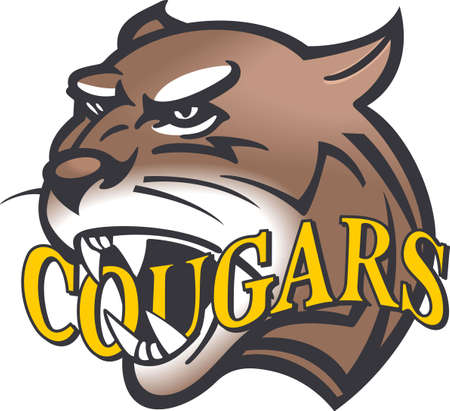 Show your team spirit with this Cougars logo.  Everyone will love it. Ilustracja