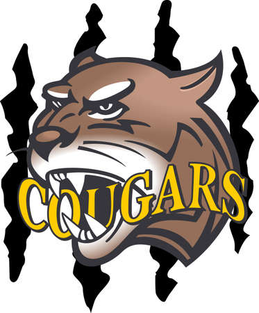 Show your team spirit with this Cougars logo.  Everyone will love it. Illusztráció