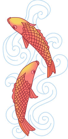 common carp: The koi is a symbol of a persons ability to have high expectations and for happiness.